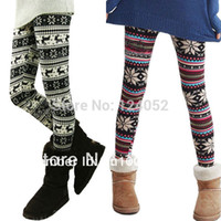 women winter tights - Women s Retro Knitted Warm Tights Snowflakes Winter Pants Multi Colors CY0337 DropShipping