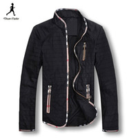 Wholesale 2015 New Men Jacket Brand Casual Slim Men Jacket Fashion Stand Collar Male Jacket Coat Windproof Jacket Men Plus Size M XL