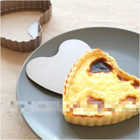aluminium pie pans - inches Aluminium Alloy Heart shape Baking Mould Cake Pan Pie Plate Baking Tools Cake Decoration