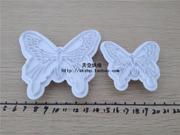 Wholesale New Time limited Ceramic Ce Eu Stocked Macaron Box Sugar Cake Baking Mould Tools Cutout Butterfly Polymer Clay Making