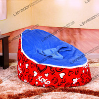 Wholesale baby bean bag with red love up cover bean bag baby baby bean bag bed bean bags pattern