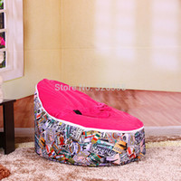 Wholesale New Baby Bean Bag Cover Children Lazy Sofa Baby Bean Bag Chair Cover Kids Seat Cover Only Cover Without Filling