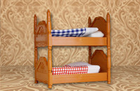 Wholesale Miniature Bunk Bed for Sylvanian Families Furryville Calico Critters Kids Baby Toys Plastic Furniture Houses Sets Children