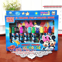 baby mouse books - sets Children Minnie Mouse Color Books and Color Pens Drawing Toys Kids Boys Girls Cartoon Paint Stationery Baby Gift