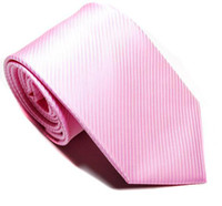 Wholesale Stripe Mens pink Ties fashion Necktie tie Classic Woven Man Tie H
