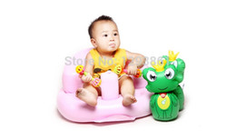 Wholesale New Brand Inflatable Baby Sofa Inflatable Kids Bean Bag Training seat Bath Chair PVC Seat Furniture