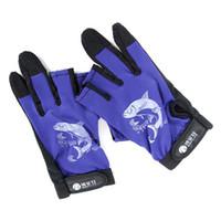best rods fishing - Best Price Pair Skidproof Resistant Half Finger Pack Fishing Rod Anti Slip Gloves New