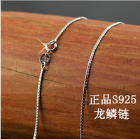 Wholesale Real Pure Sterling Silver necklace chain for women TOP quality Fine Jewelry GLN003