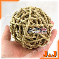 Wholesale quot CM Natural Straw Braided Ball Bite Play Exercise Hamster Syrian Golden Squirrel Chinchilla Guinea pig Ferret