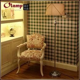 Wholesale-Europe style elegant floor lamps Fashion design brief american corner floor lamp metal base+fabric lampshade