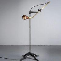 adjustable arm floor lamp - Retro vintage floor lamp copper iron vintage american antique long arm floor led lamp lighting height adjustable modern