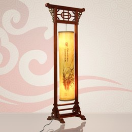 Wholesale Chinese style floor lamp antique classical floor lamp wooden living room lamps