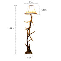 arts crafts floor lamp - Personality Classic Country Resin deer horn Floor Lamps Floor Light Art Decorative Lustre DIY Craft Fixture Lighting