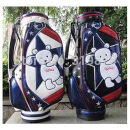 Wholesale Lovely Little Bear Version New Golf Staff Bag Best Quality Cart Golf Bag With Cover