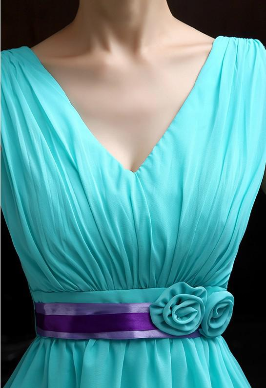 Wholesale-Teal Bridesmaid Dresses Chiffon Turquoise Blue Dress For Weddings Sweetheart Bridesmaid Dress Cheap Bridesmaid Dresses Under 50