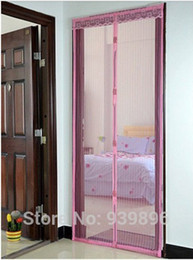 Wholesale mosquito curtain magnetic soft screen door automatic closing curtains CM CM magnetic soft yarn curtain