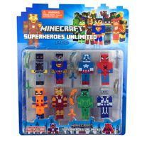 Wholesale 2015 Newest Minecraft toys Action Figure Avengers batman superman spiderman captain america ironman Building Blocks Sets Model Toys