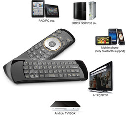 Wholesale Original Rii i25A US Layout Ghz Wireless Mini Air Fly Mouse Keyboard with IR Remote Learning and Earphone Jack