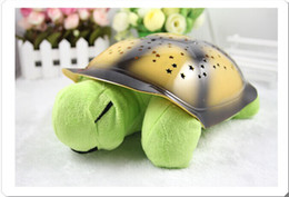 Wholesale NEW HOT colors baby room lamp musical turtle night light for children starry sky Wonderful gifts for kids lull to sleep