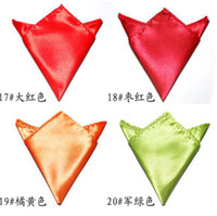 Wholesale Pocket square silk Hankerchief kerchief mocket men s mocketer noserag colors poc B