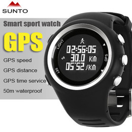 Wholesale 2015 new desigh SUNTO sports watch GPS watches relogios masculino men running smart electronics sailing waterproof hiking distance calories