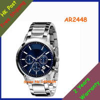Wholesale NEW AR2434 AR2447 AR2433 AR2448 AR2432 CHRONOGRAPH MEN S WATCH BLUE DIAL WATCH