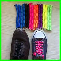 Cheap Wholesale-New Children Safety Unisex Shoelace Curly Shoelaces Charm No Tie Elastic Shoe Laces