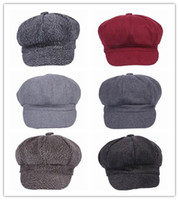 Wholesale New Fashion Unisex Color Select Casual Style Berets Octagon Hats Cotton Caps For Men and Women EPK