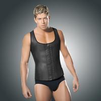 Cheap 2015 NEW Latex Waist Training Corsets For Men Faja Hombre Men Body Shaper Corset For Men Underwear Sexy Plus Size S~6XL 15