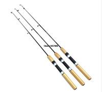 Wholesale M M New Telescope Carbon Ice Fishing Rod Mini Pole Ultra light Winter Fishing rod Tackle Tool L082