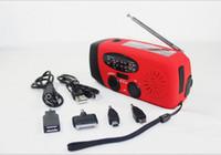emergency radio - AM FM WB solar radio radio hand crank Multi functional emergency charging
