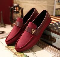 Precio de Hombres zapatos nuevos estilos--Nueva venta al por mayor zapatos de estilo FLOCK envío de las mujeres los hombres pueden V zapatos mocasines casuales de moda los zapatos planos de las mujeres alpargata tamaño de las zapatillas de deporte 39-44