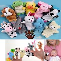 Cheap Wholesale-10 pcs lot finger puppets reborn babies story toy,10 styles animal hand finger puppet doll toy,fantoches de dedo,fantoche de mao