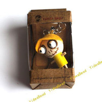 Wholesale 50pcs Mixed Wooden Doll Pandent with Key Ring Key Chain Fit Mobile Phone s Key Accessories