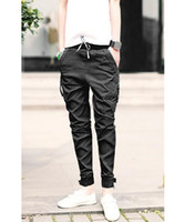Wholesale New Summer Style Men S Baggy Cargo Pants Brand Sport Men Jeans Skinny Homme Overalls Casual Trousers Pants US Size XS L