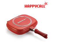 aluminum frypan - happycall smokelessly nonstick double face frypan PJC11 R pan use as pans