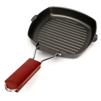 aluminium griddle pan - Folding Non stick Frying Pans Aluminium Square Griddle Skillet BBQ Picnic Cookware Pan Kitchen Cooking Tools