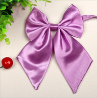 ascot hotel - New Style Ladies Collar Flower Stewardess Bank Hotels Students Wear Collar Flower Printed Silk Plaid Polyester Bow Tie