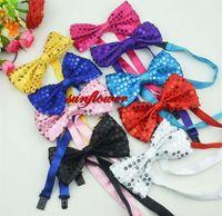 Wholesale Adjustable Glitter Sparkly Sequin Bow Tie Bowtie Fancy Dress Costume Party