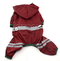accessories hoody - Pet Dog Cat Raincoat Clothes Puppy Glisten Bar Hoody Waterproof Rain Jackets New