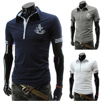 tommy shirt - new fashion boss men brand color gray white navy summer style Embroidered Pattern words cotton short sleeve tommy polo shirt