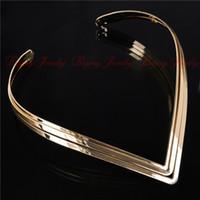 africa north - Statement Shiny North Africa Popular Torques Collar Choker Layer Bright Metal Weld Bib Women Necklaces Statement Jewelry