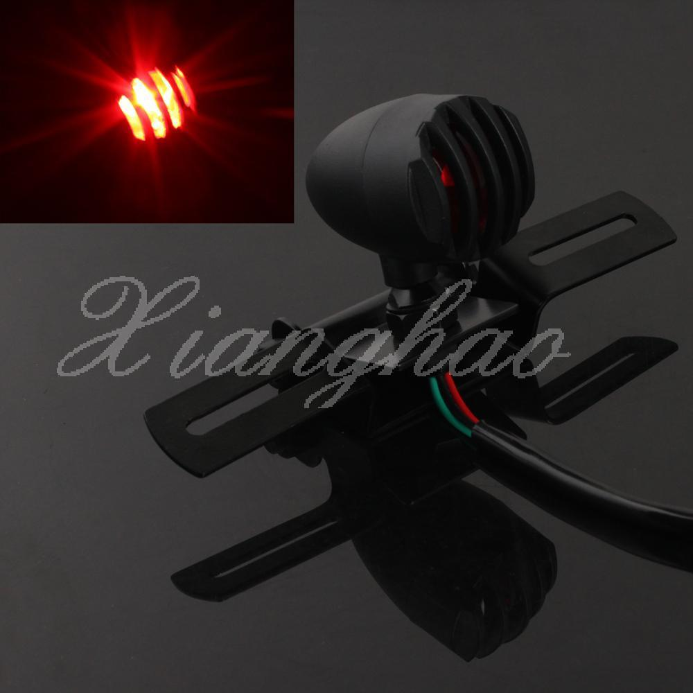 Wholesale-Black Tail Light License Plate Bracket Tag Relocator Turn Signals For Harley Triumph Bobber Chopper