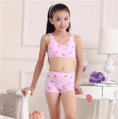 Wholesale Cotton Underwear Kids Bra For Girls Brand New Sports ...