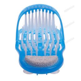 Wholesale digitalmart Five stars Exfoliate Shower Foot Cleaner Scrubber Washer Bath Brush Spa Massager Slipper Cheap