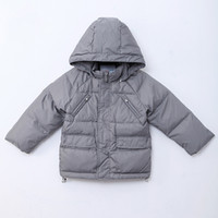 baby duck fabric - Infant Snowsuit Hooded Nylon Fabric Grey Duck Down Feathers Baby Boys Jacket Winter Clothes