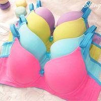 Cheap Wholesale-Hot Brand Underwear Women Bra Set Sexy Seamless Bra And Panty Set Plus Size Fashion Push Up Bra Lingerie