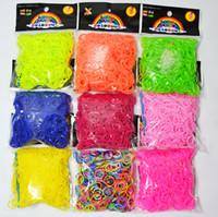 loom bands - Hot selling DIY kids loom rubber bands loom bands bracelet set children toys