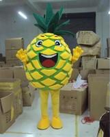 Haute qualité EVA Matériau Fruit Ananas Mascot Costume Halloween Anniversaire, Noël, fête des adultes Taille expédition Cartoon Apparel gratuit