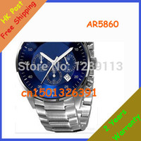 Wholesale New Blue Dial Chronograph AR5860 AR2448 AR2434 AR2447 AR2432 AR2433 Men s Watch Original box